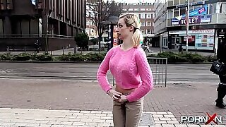 Brazzers xxx: Candida May does some public piss