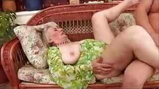 Brazzers xxx: Horny Granny in stockings gets fucked