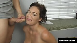 Brazzers xxx: Hot Dutch MILF Security Officer Tugs Happy Husband With Fucked By Cock On The Basement Floor