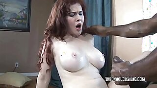 Brazzers xxx: Busty housewife becomes horny and deepthroats huge black dick