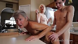 Brazzers xxx: Girl gets pounded in uniform yoga chair after threesome