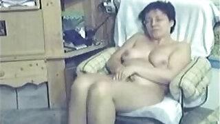 Brazzers xxx: My mum home alone caught masturbating by my hidden cam