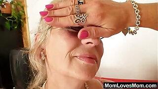 Well endowed grandma penetrates a milf - 1349
