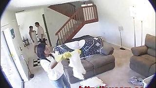 Hidden Cam Captures Maid And Wife In Secret Lesbian Affair - 723