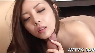 Brazzers xxx: Stud is receving an arousing oral from cute oriental