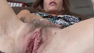 Brazzers xxx: Mature redhead fucks her pussy and asshole