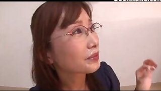 Brazzers xxx: Office Lady Glasses Cumshots Japanese