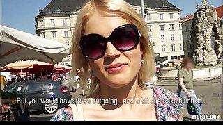 Brazzers xxx: Blond Czech exhibitionist bounces her perfect ass on a big dick