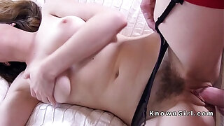 Brazzers xxx: Natural busty hairy amateur bangs homemade