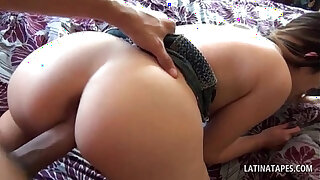 Brazzers xxx: POV latina girl gets pussy pounded in bed