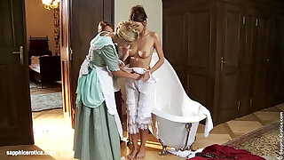 Brazzers xxx: Judit Juliette and Jessica have a bath and seduce each other on Sapphic Erotica