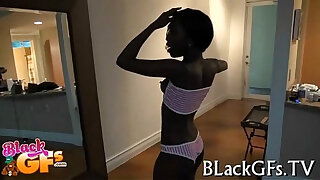 Brazzers xxx: Hot black honey is a cute cowgirl
