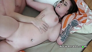 Brazzers xxx: Homemade sex ends up with anal fuck
