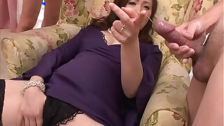 Brazzers xxx: Asian milf wanks in her foursome with her toys