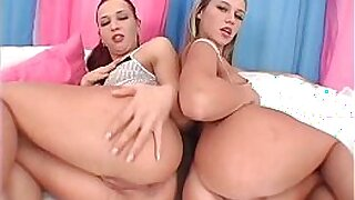 Brazzers xxx: Rachel is banged ass fucked by a trio of fat sluts
