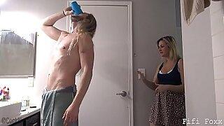 Brazzers xxx: Stepfathers Mom Rides Cock And Fucks Son
