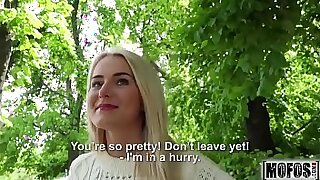Brazzers xxx: Tied up blonde used and fucked outdoors