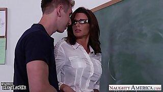 Brazzers xxx: Nice looking teacher fucked in grading room